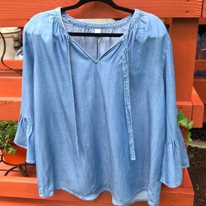 Old Navy loose fit peasant top, size XL